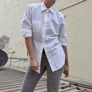 J. Crew shirt in seersucker white fabric